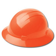 ERB-19223 Orange Ratchet Full Brim Hard Hat - Americana Full Brim Mega Ratchet 4-Point Nylon Suspension w/Ratchet Adjustment