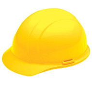 ERB-19362 Yellow Ratchet Cap Style Hard Hat - Americana Mega Ratchet 4-Point Suspension w/Ratchet Adjustment