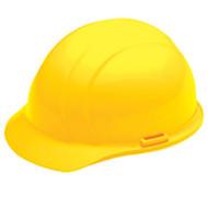 ERB-19362 Yellow Ratchet Cap Style Hard Hat - Americana Mega Ratchet 4-Point Suspension w/Ratchet Adjustment