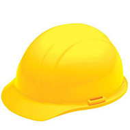 ERB-19762 Yellow Cap Style Hard Hat - Americana Standard w/4-Point Nylon Suspension Slide-lock Adjustment