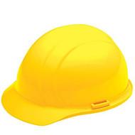 ERB-19762 Yellow Cap Style Hard Hat - Americana Standard w/4-Point Nylon Suspension Slide-lock Adjustment