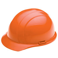 ERB-19763 Orange Cap Style Hard Hat - Americana Standard w/4-Point Nylon Suspension Slide-lock Adjustment