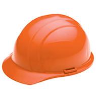 ERB-19763 Orange Cap Style Hard Hat - Americana Standard w/4-Point Nylon Suspension Slide-lock Adjustment