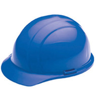 ERB-19766 Blue Cap Style Hard Hat - Americana Standard w/4-Point Nylon Suspension Slide-lock Adjustment