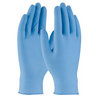 GL 63-332 4mil Nitrile Blue Gloves Industrial Grade Textured Grip Powdered 100 PerBox