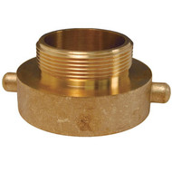 "DV HA2576 Dixon Brass Hydrant Adapters Pin Lug 2-1/2"" Female X Male"