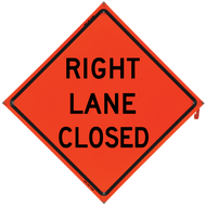 Right Lane Closed (Non-Reflect