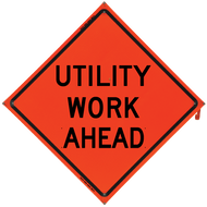 UTILITY WORK AHEAD Vinyl NF Or - B NV4848UWAOC