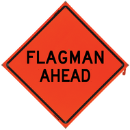 Flagman Ahead (Non-Reflective)