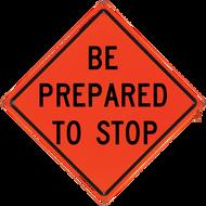 BE PREPARED TO STOP Vinyl NF O - B NV4848BPTSOC