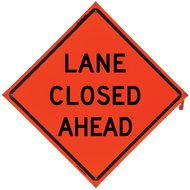 LANE CLOSED AHEAD Vinyl NF Ora - B NV4848LCAOC
