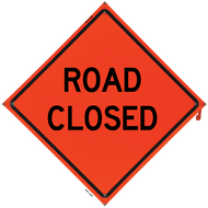 ROAD CLOSED Vinyl NF Orange Co - B NV4848RCOC