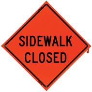 SIDEWALK CLOSED Vinyl NF Orang - B NV4848SC1OC