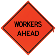WORKERS AHEAD Vinyl NF Orange - B NV4848WAOC