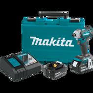Makita XDT12T  18V LXT® Lithium‑Ion Brushless Cordless Quick‑Shifta Mode™ 4‑Speed Impact Driver Kit (5.0Ah)