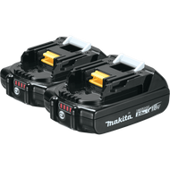 Makita BL1820B-2  18V LXT Lithium‑Ion Compact 2.0Ah Battery, 2 Pack