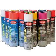 KRYLON S03801 APWA Utility Yellow WB 20 oz Cans (17 oz net wt) Case pack 12