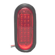 NA LEDQO-R Quad Flash Oval LED Warning Light - Red
