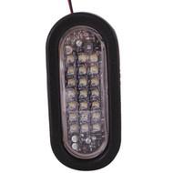 NA LEDQO-C Quad Flash Oval LED Warning Light - Clear