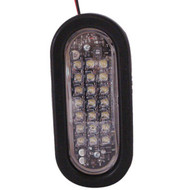 NA LEDQO-C Quad Flash Oval LED Warning Light - Clear