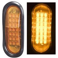 NA LED QO-A LED Warning Light (Oval) Amber