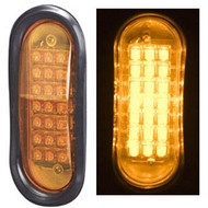 NA LED QO-A LED Warning Light (Oval) Amber