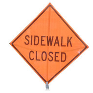 "B A4SS7030 SG ""SIDEWALK CLOSED""  Standard Grade 48"" Roll-Up Sign"