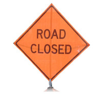 "B A4SR0629 SG ""ROAD CLOSED""  Standard Grade 48"" Roll-Up Sign"