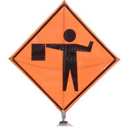 "B A4SF03050 SG ""FLAGGER SYMBOL""  Standard Grade 48""Roll-Up Sign"