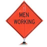 """B A4DM04250C DG """"MEN WORKING""""  3M Diamond Grade 48"""" Roll-Up Sign"""