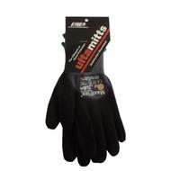 GL 34-845-LRG Glove, Nitrile Dotted Palm Micro-Foam Nitrile Coated  Blk/Gry Full Finger & Knuckle  Maxiflex Plus II Size: Large