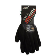 GL 34-845-XLRG Glove, Nitrile Dotted Palm Micro-Foam Nitrile Coated  Blk/Gry Full Finger & Knuckle  Maxiflex Plus II Size: Extra Large
