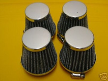 4 POD FILTERS 54MM CB750 KZ1100 GS1000 GS1100 FJ1200