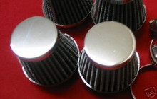 2 POD FILTERS 35MM CB125 KH250 DT80 RD125 RD200 GT185