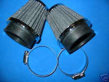 2 UNIVERAL POD AIR FILTERS 54MM FITS MANY MAKES LISTED