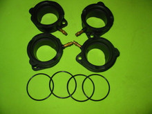4X NEW ZX1100C ZX1100D ZX1200C ZZR CARB HOLDERS & ORINGS ZX-11 ZX11 NINJA