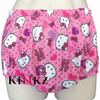 Sissy Pink Kitty Print Adult Baby PVC Plastic And Cotton Pants For Adults