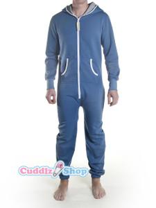 Blue adult footless onesie