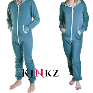 Petrol Blue adult footless onesie