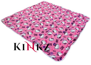Cuddlz Pink Kitty Cat Reversable Adult Sized Nappy Changing Mat