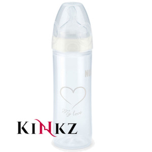 NUK 250ml New Classic Adult baby bottle White Size Large teat abdl for adults for sale