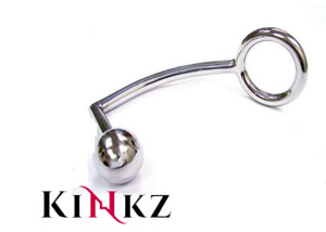STAINLESS STEEL COCK RING WITH ANAL PROBE BDSM FETISH