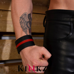 Leather wrist band wallet in different colours fetish bondage bdsm