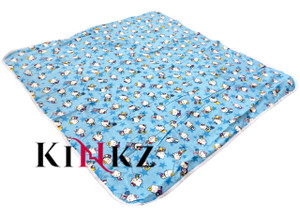 Cuddlz blue kitty cat adult baby diaper changing mat extra large size / ABDL nappy changing mat for adults