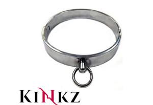 Stainless steel bondage collar slave bdsm fetish