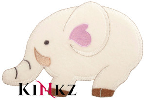 Large Elephant With Pink Heart Iron / Sew On Motif Iron / Sew On Motif or Patch for adult baby clothing abdl