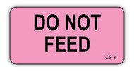 CS-3 Cage Sticker - Do Not Feed