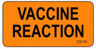CS-70 Cage Stickers - Vaccine Reaction
