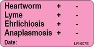 LR-607E Lab Result Sticker - Heartworm/Lyme/Ehrlichiosis/Anaplasmosis test result