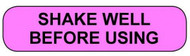 C-4 Medication Instruction Sticker - Shake Well Before Using